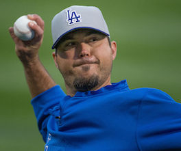 """By Keith Allison on Flickr (Originally posted to Flickr as """"Josh Beckett"""") [CC-BY-SA-2.0 (http://creativecommons.org/licenses/by-sa/2.0)], via Wikimedia Commons"""