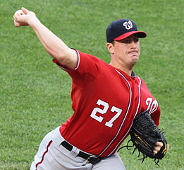 Keith Allison from Owings Mills, USA - Washington Nationals starting pitcher Jordan Zimmermann (27)