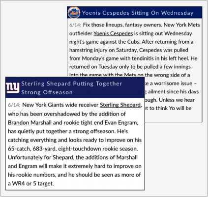 Fantasy Sports Player News Feeds and APIs | RotoBaller