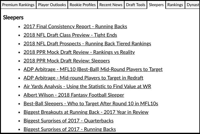 2019 Nfl Fantasy Football Draft Kit Cheat Sheet Rotoballer